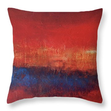 Crimson Sky Throw Pillow by Filomena Booth