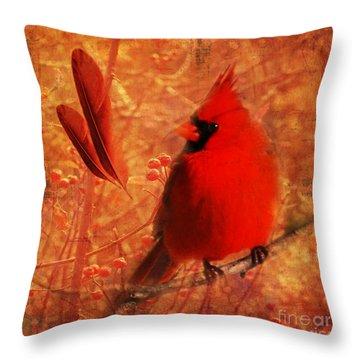 Crimson Splash 2015 Throw Pillow