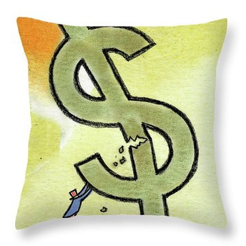 Crisis And Money Throw Pillow