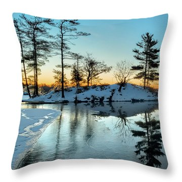 Crisp And Cold Start To The Day Throw Pillow