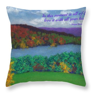 Crisp Kripalu Morning - With Quote Throw Pillow