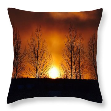Crisp Sunset Throw Pillow