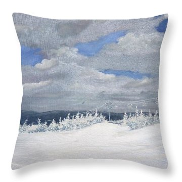 Throw Pillow featuring the painting Crispy Day by Ken Ahlering