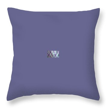 Criss Cross Throw Pillow by Margalit Romano