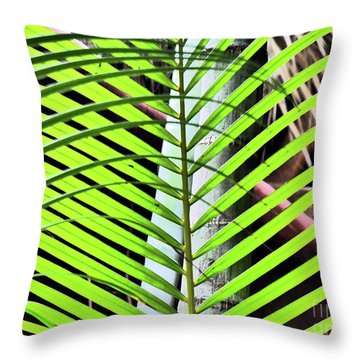 Crisscrossing Palms Throw Pillow