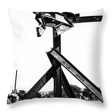 Crissy Field Iron Scuplure Throw Pillow