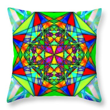 Cristal Logic Throw Pillow