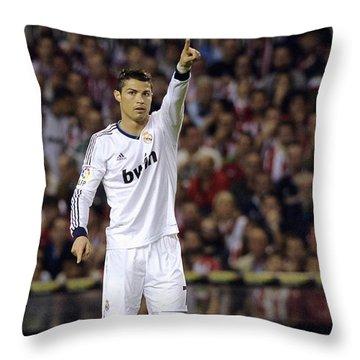 Cristiano Ronaldo 31 Throw Pillow