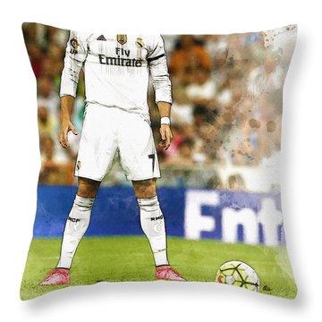 Cristiano Ronaldo Reacts Throw Pillow