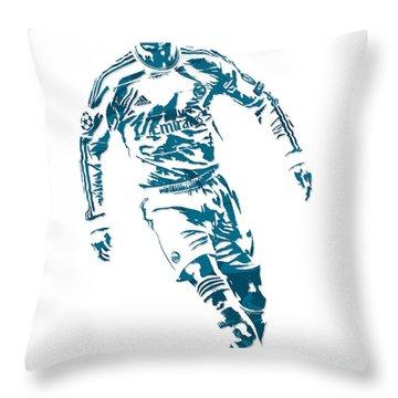 Cristiano Ronaldo Real Madrid Pixel Art 1 Throw Pillow