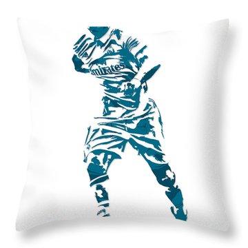 Cristiano Ronaldo Real Madrid Pixel Art 3 Throw Pillow
