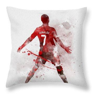 Cristiano Ronaldo United Throw Pillow