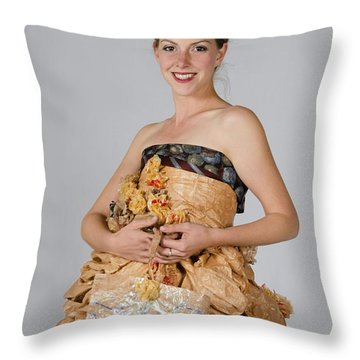 Cristina In Bring Your Own Bags Throw Pillow