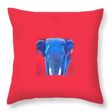 Critically Endangered Sumatran Elephant  Throw Pillow