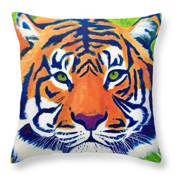 Critically Endangered Sumatran Tiger Throw Pillow