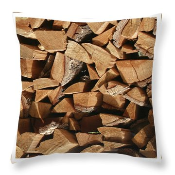 Throw Pillow featuring the photograph Cutie Critter In The Wood Pile by Jack Pumphrey