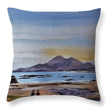 F801  Croagh Patrick From Old Head, Mayo Throw Pillow
