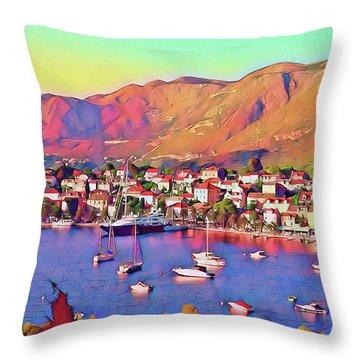 Croatia Coastal Living Throw Pillow