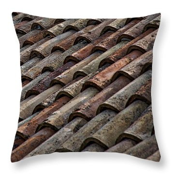 Croatian Roof Tiles Throw Pillow