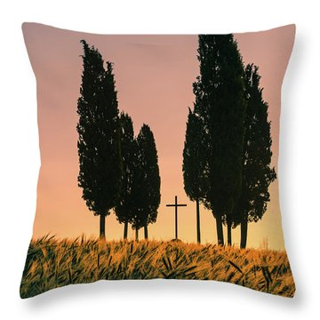 Croce Di Prata - Tuscany Throw Pillow