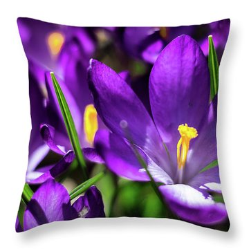 Crocus Amongst Us Throw Pillow