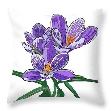 Crocus Throw Pillow by Jamie Downs