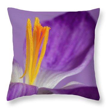 Crocus Stamens  Throw Pillow