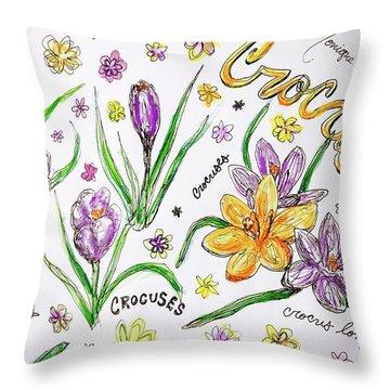 Crocuses Throw Pillow