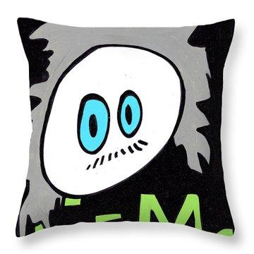 Cronkle Einstein Throw Pillow by Jera Sky
