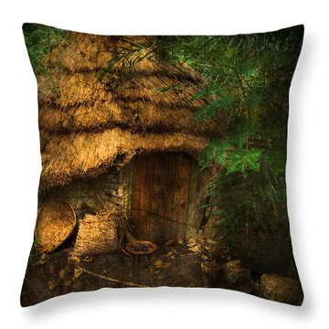 Crooked House Throw Pillow by Svetlana Sewell