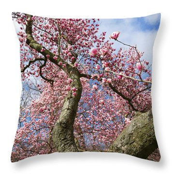 Crooked Magnolia Throw Pillow