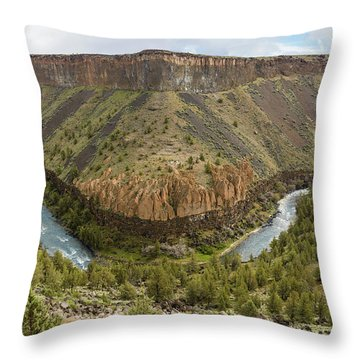 Crooked River Gorge Throw Pillow by Joe Hudspeth