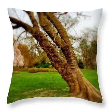 Crooked Tree Throw Pillow