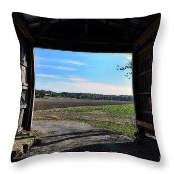 Crooks Bridge Throw Pillow by Joanne Coyle