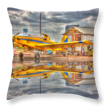 Crop Duster 001 Throw Pillow