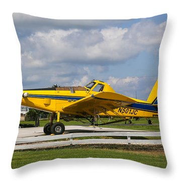 Crop Duster Throw Pillow