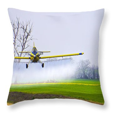 Precision Flying - Crop Dusting 1 Of 2 Throw Pillow