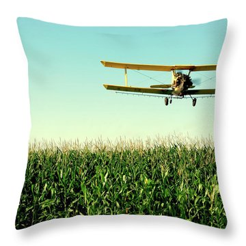 Crops Dusted Throw Pillow