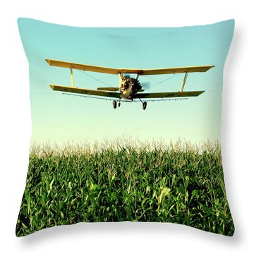 Crops Dusted Throw Pillow by Todd Klassy