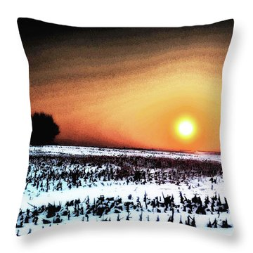 Crops In Throw Pillow