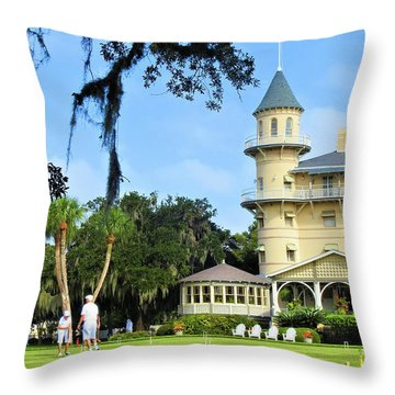 Croquet Anyone? Throw Pillow by Laura Ragland