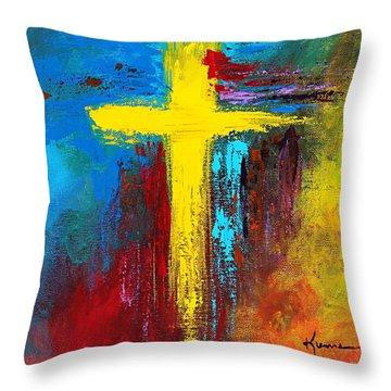 Cross No.2 Throw Pillow