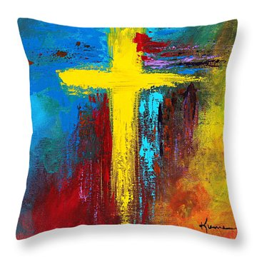 Cross 2 Throw Pillow by Kume Bryant