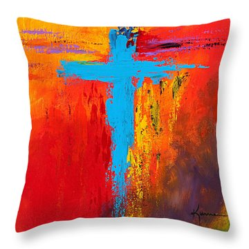 Cross 3 Throw Pillow by Kume Bryant