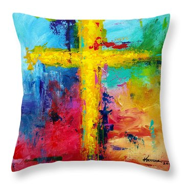 Cross No.7 Throw Pillow