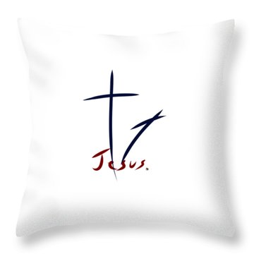 Cross And Shadow Throw Pillow
