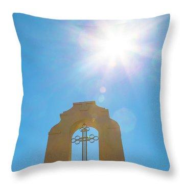 Cross And Sun Throw Pillow