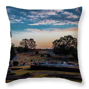 Cross At Sunset Throw Pillow