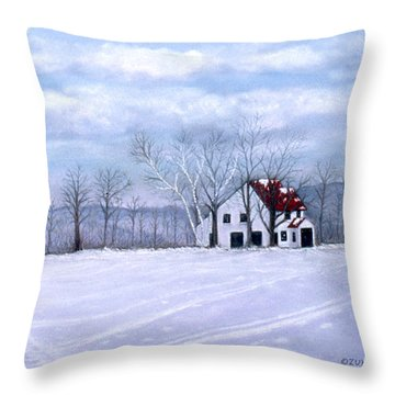 Throw Pillow featuring the painting Cross Country by Karen Zuk Rosenblatt