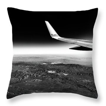 Cross Country Via Outer Space Throw Pillow